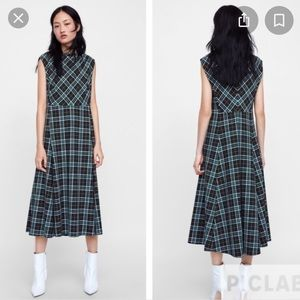 Zara tartan sleeveless dress